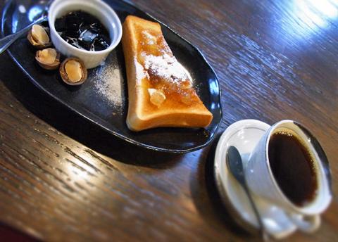 本日の「珈琲のある朝。」は、シナモンアップルのトーストが登場でした。
