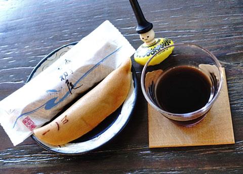 鮎菓子はそのまま。天ぷらなんかにしたらおかしいでしょ?…。
