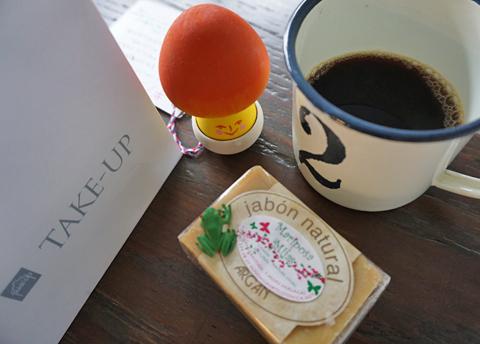 おうちで「珈琲のある朝。」の後は洗顔です↑。