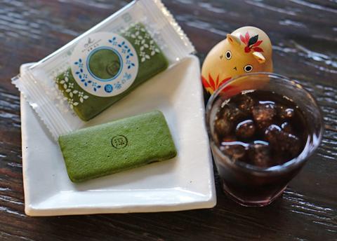 京都で抹茶が似合いますが、岐阜では抹茶と珈琲が似合いすぎ…。
