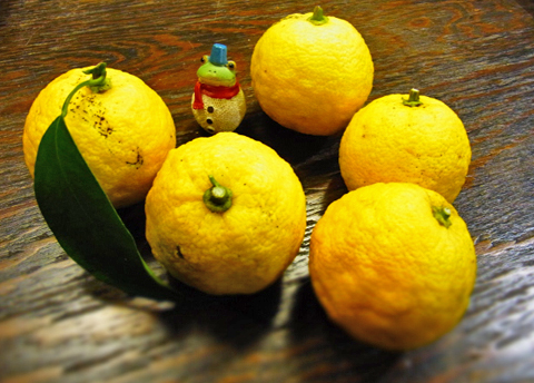 今宵は柚子風呂で、雪かきの疲れをほぐしましょうか(笑)。