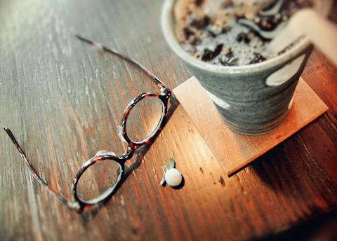 11時半を過ぎたころ、「眼鏡とIce珈琲のある休息?」でした…。