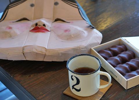 本店では煎茶が相棒ですが、こちらではやっぱりゆーあブレンドでしょ(笑)。