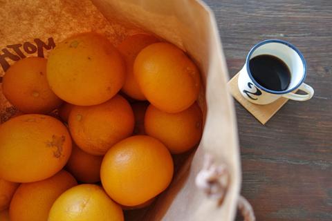 柑橘が到着っ↑…